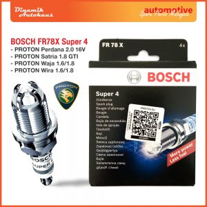 Proton Car Spark Plug Bosch FR78X Super 4 - Automotive Spare Parts Malaysia