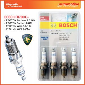 Proton Car Spark Plug Bosch FR7DCX+ Super Plus - Automotive Spare Parts Malaysia