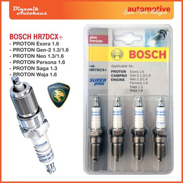 Proton Car Spark Plug Bosch HR7DCX+ Super Plus - Automotive Spare Parts Malaysia