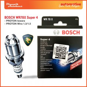 Proton Car Spark Plug Bosch WR78X Super 4 - Automotive Spare Parts Malaysia