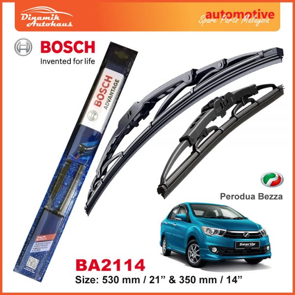 Bosch Wiper Blade BA2114 Perodua Bezza
