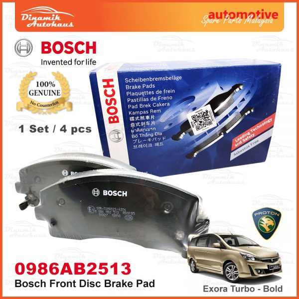 Bosch Front Disc Brake Pad Exora Bold Turbo