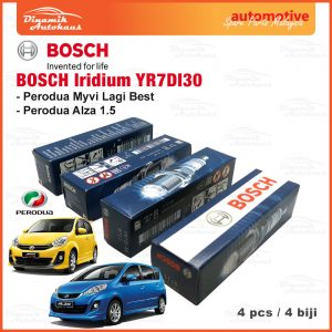 Perodua Alza Myvi Lagi Best Model Car Spark Plug Bosch Iridium YR7DI30 01 | Automotive Spare Parts Malaysia