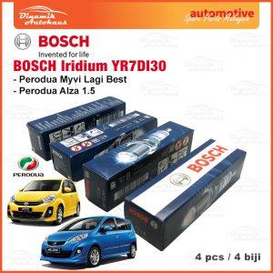 Perodua Alza Myvi Lagi Best Model Car Spark Plug Bosch Iridium YR7DI30 01 | Automotive Spare Parts Malaysia