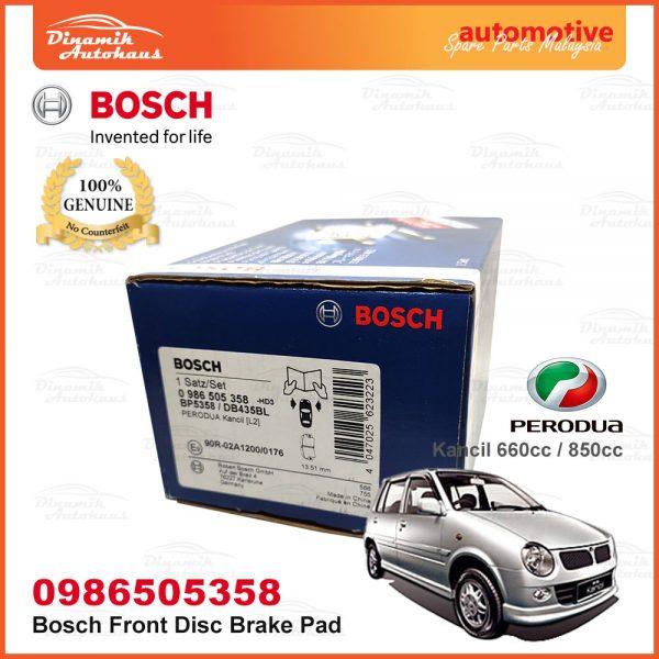 Perodua Kancil 660cc 850cc Front Wheel Bosch Disc Brake Pad 02 | Automotive Spare Parts Malaysia