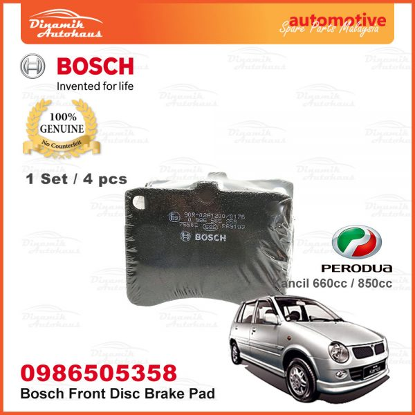 Perodua Kancil 660cc 850cc Front Wheel Bosch Disc Brake Pad 05 | Automotive Spare Parts Malaysia