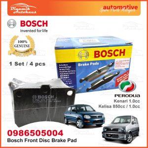 Perodua Kenari Kelisa Car Front Wheel Bosch Disc Brake Pad 01 | Automotive Spare Parts Malaysia