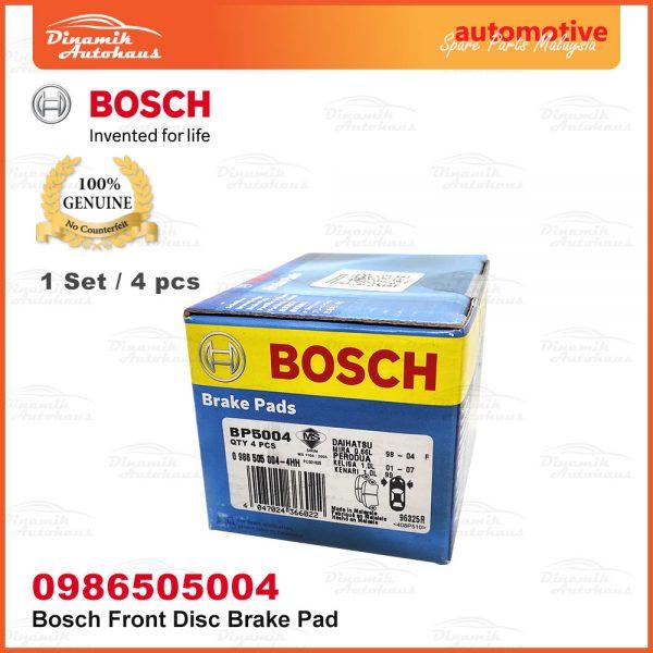 Perodua Kenari Kelisa Car Front Wheel Bosch Disc Brake Pad 02 | Automotive Spare Parts Malaysia