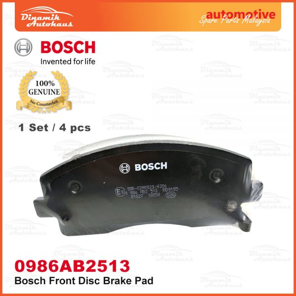 Proton Exora Turbo Bold Preve Suprima S Front Wheel Disc Brake Pad 04 | Automotive Spare Parts Malaysia