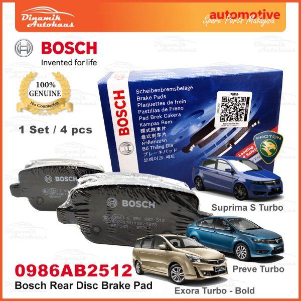 Proton Exora Turbo Bold Preve Suprima S Rear Wheel Disc Brake Pad 01 | Automotive Spare Parts Malaysia