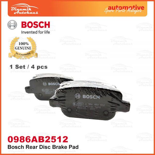 Proton Exora Turbo Bold Preve Suprima S Rear Wheel Disc Brake Pad 03 | Automotive Spare Parts Malaysia