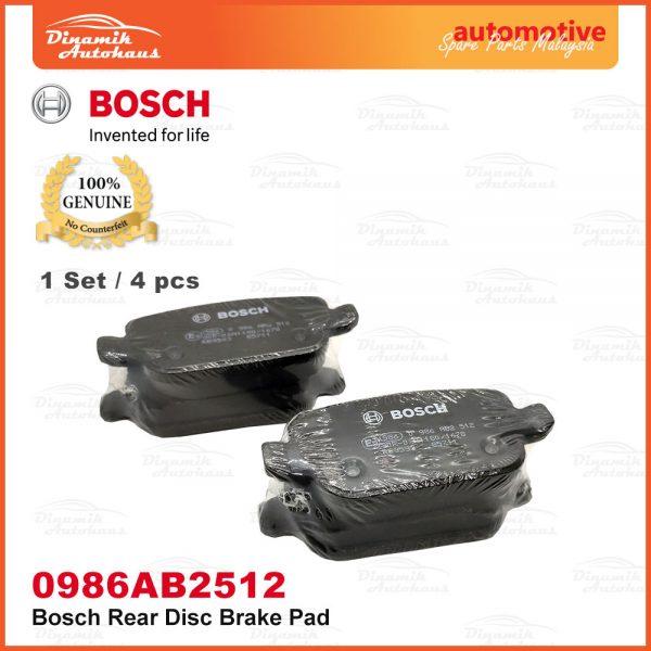 Proton Exora Turbo Bold Preve Suprima S Rear Wheel Disc Brake Pad 04 | Automotive Spare Parts Malaysia