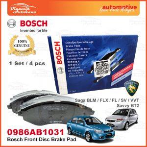 Proton Saga BLM Savvy BT2 Front Wheel Bosch Disc Brake Pad 01 | Automotive Spare Parts Malaysia