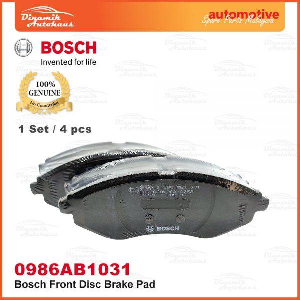 Proton Saga BLM Savvy BT2 Front Wheel Bosch Disc Brake Pad 03 | Automotive Spare Parts Malaysia