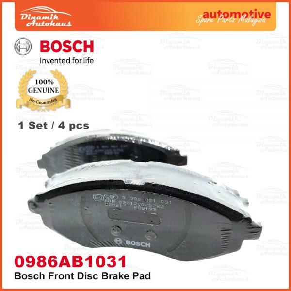 Proton Saga BLM Savvy BT2 Front Wheel Bosch Disc Brake Pad 05 | Automotive Spare Parts Malaysia