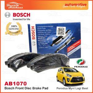 Perodua Axia Bosch Disc Front Brake Pad AB1070
