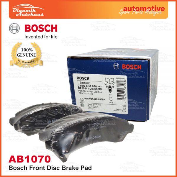 Perodua Myvi Lagi Best Bosch Disc Front Brake Pad AB1070 1