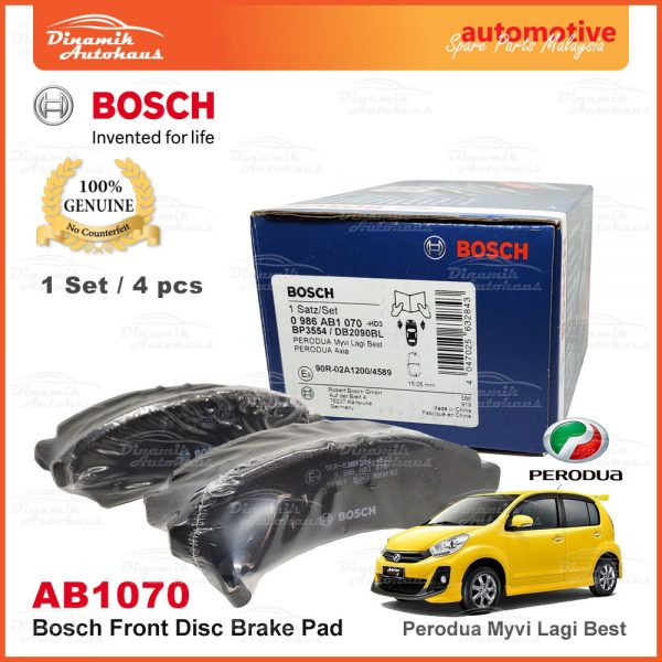 Perodua Myvi Lagi Best Bosch Disc Front Brake Pad AB1070 2