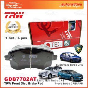 Proton Preve Suprima S Turbo CPE Exora CPS TRW Front Brake Pad 01